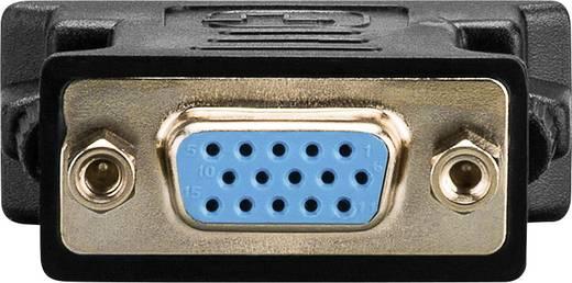 Goobay DVI / VGA Adapter [1x DVI-Stecker 24+5pol. - 1x VGA-Buchse] Schwarz vergoldete Steckkontakte