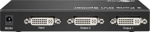 Goobay 2 Port DVI-Splitter 1920 x 1080 Pixel Schwarz
