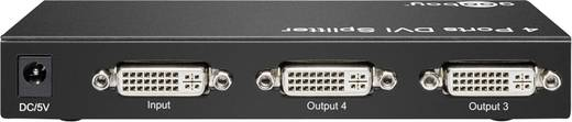 Goobay 4 Port DVI-Splitter 1920 x 1080 Pixel Schwarz