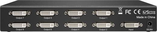 8 Port DVI-Splitter Goobay Splitter DVI 24+5 1in/8out 1920 x 1080 Pixel Schwarz