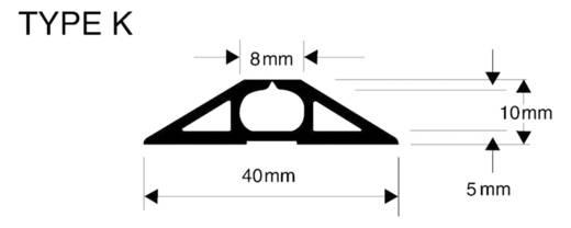 Vulcascot Kabelbrücke Grau Anzahl Kanäle: 1 9000 mm Inhalt: 1 St.
