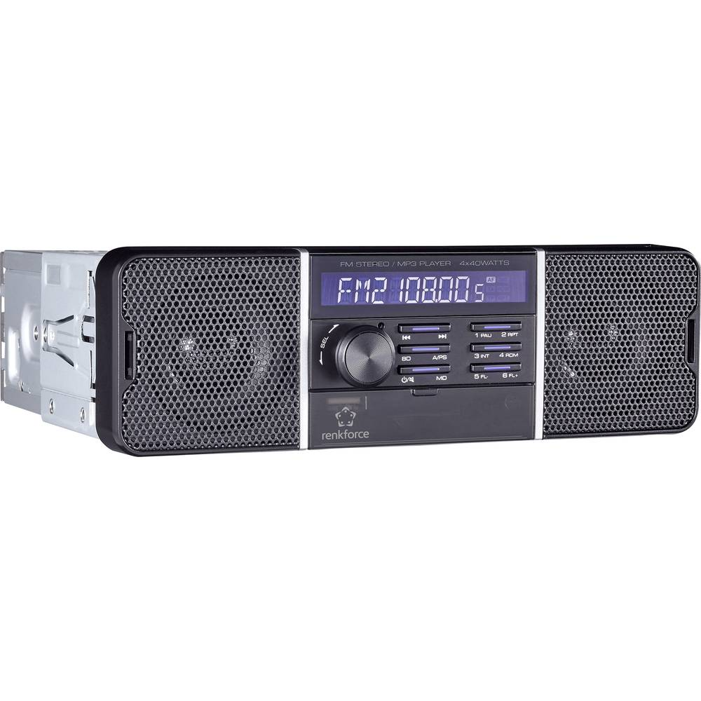 Renkforce RUSD-SP 12V/24 Autoradio inkl. Fernbedienung, Retro Design ...