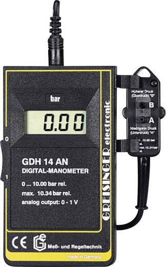 Druck-Messgerät Greisinger GDH 14 AN Luftdruck, Nicht korrosive Gase, Nicht ionisierende Gase, Flüssigkeiten 0 - 10 bar