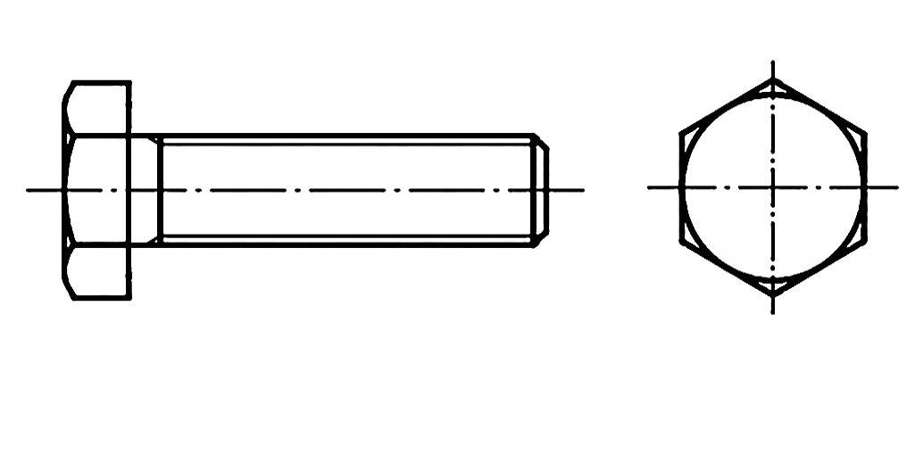 Sechskantschrauben DIN 933 8.8 M 8 x 35 Inhalt 200 Stück