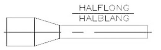 1-966067-7 TE Connectivity Aderendhülse 2.50 mm² x 12 mm Teilisoliert Blau 500 St.