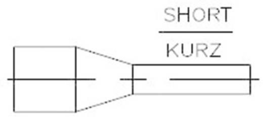 966067-4 TE Connectivity Aderendhülse 0.75 mm² x 6 mm Teilisoliert Grau 500 St.
