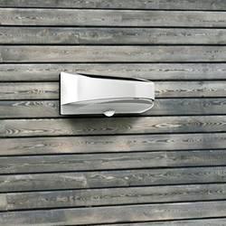 Venkovní solární nástěnné osvětlení s PIR senzorem ECO-Light Bread P9015S, neutrálně bílá, stříbrná