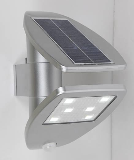 solar au enwandleuchte mit bewegungsmelder 2 4 w neutral wei eco light p9011 si zeta silber. Black Bedroom Furniture Sets. Home Design Ideas