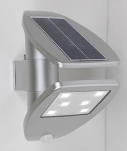 Venkovní solární nástěnné osvětlení s PIR senzorem ECO-Light Zeta P9011 SI, neutrálně bílá, stříbrná