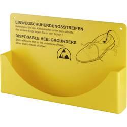 Nástenný držiak pre jednorázové pásky na päty Wolfgang Warmbier 2560.894.H, 2560,894.H, 1 ks, žltá