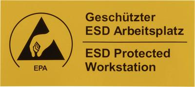 ESD Warnschild