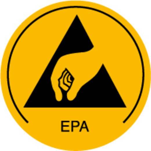 ESD-Logo 250 St. Gelb, Schwarz (Ø) 10 mm Wolfgang Warmbier 2850.10 selbstklebend