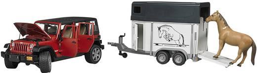 Bruder Jeep Wrangler UR mit Pferdeanhänger und Pferd