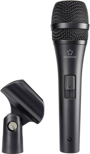 Hand Gesangs-Mikrofon Renkforce AVL2700 Übertragungsart:Kabelgebunden inkl. Klammer, Metallgehäuse, Schalter