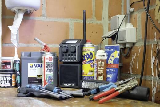 DAB+ Baustellenradio PerfectPro Slim 2 AUX, Bluetooth®, DAB+, UKW stoßfest, spritzwassergeschützt, staubdicht Schwarz