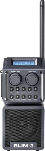 PerfectPro Slim 3 DAB+ Baustellenradio AUX, Bluetooth®, DAB+, SD, UKW, USB stoßfest, spritzwassergeschützt, staubdicht,