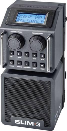 DAB+ Baustellenradio PerfectPro Slim 3 AUX, Bluetooth®, DAB+, SD, UKW, USB stoßfest, spritzwassergeschützt, staubdicht,