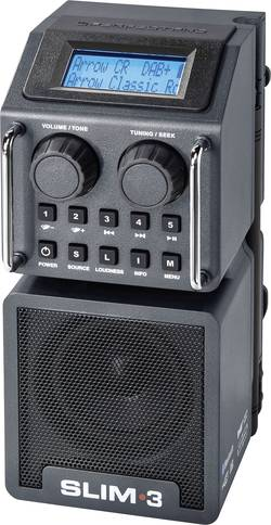 Outdoorové DAB+ a FM rádio PerfectPro Slim 3, RDS
