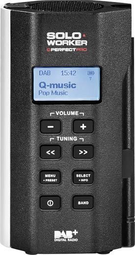 PerfectPro Soloworker DAB+ DAB+ Baustellenradio AUX, DAB+, UKW wiederaufladbar, stoßfest, spritzwassergeschützt, staubdi