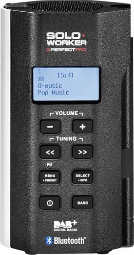 PerfectPro Soloworker DAB+ BT DAB+ Baustellenradio AUX, Bluetooth®, DAB+, UKW spritzwassergeschützt, staubdicht, stoßfes