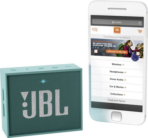 Bluetooth® Lautsprecher JBL Harman Go Freisprechfunktion Türkis