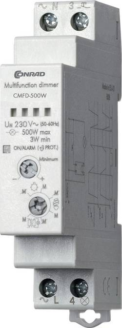 Stmívač na DIN lištu Conrad Components CMFD-500W, 230 V/AC, 1 ks