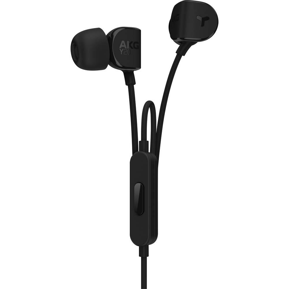kopfh rer akg harman y20u in ear headset schwarz im conrad. Black Bedroom Furniture Sets. Home Design Ideas