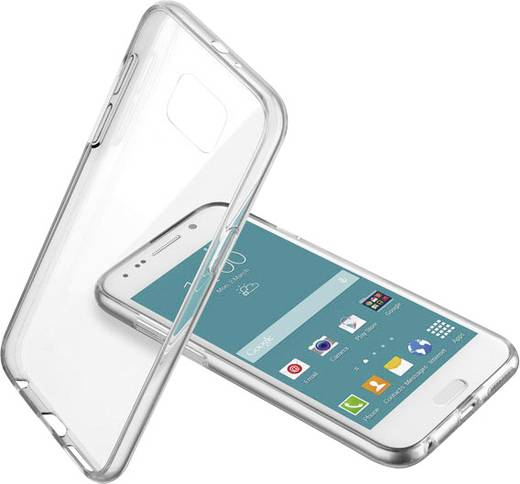 Cellularline Clear Duo Backcover Backcover Passend für: Samsung Galaxy S6 Transparent