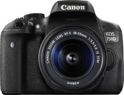 Appareil photo reflex numérique Canon EOS 750D avec EF-S 18-55 mm IS STM 24.2 MPix sabot pour flash, écran pivotable, vi