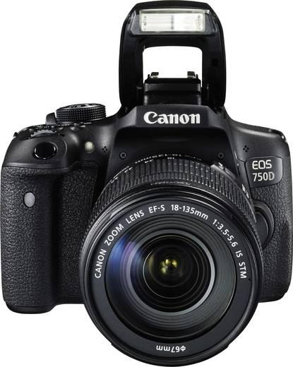 canon eos 750d digitale spiegelreflexkamera ef s 18 135 mm is stm 24 2 mio pixel schwarz. Black Bedroom Furniture Sets. Home Design Ideas