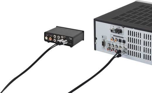 SpeaKa Professional Cinch Audio Anschlusskabel [2x Cinch-Stecker - 2x Cinch-Stecker] 1.50 m Schwarz SuperSoft-Ummantelun