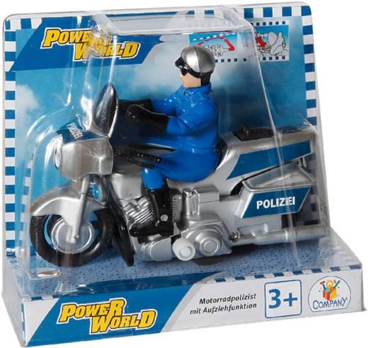 PW Polizei Motorrad,11cm Aufziehfunkt.