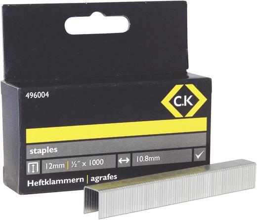 Tackerklammern 1000 St. C.K. 496004 Klammern-Typ 140 Abmessungen (L x B) 12 mm x 10.5 mm
