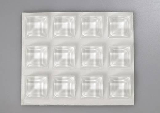 TOOLCRAFT 2205C12-C Gerätefuß selbstklebend, quadratisch Transparent (Ø x H) 20.5 mm x 7.5 mm 12 St.