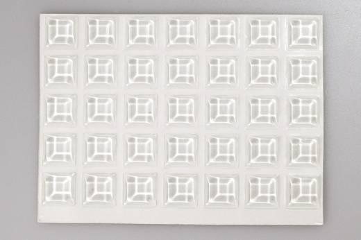 TOOLCRAFT 2127C70-C Gerätefuß selbstklebend, quadratisch Transparent (Ø x H) 12.7 mm x 3.1 mm 70 St.