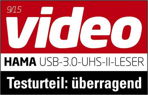 Externer Speicherkartenleser USB 3.0 Hama 124024 Anthrazit