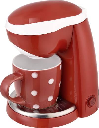 Kaffeemaschine TKG Team Kalorik TKG CM 1015 RWD Rot/Weiß Fassungsvermögen Tassen=1 One Touch