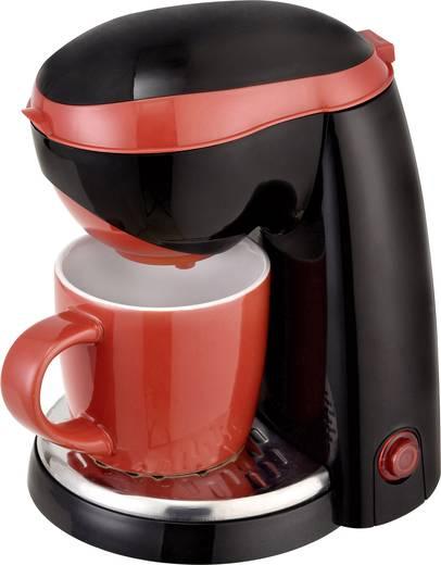 Kaffeemaschine TKG Team Kalorik TKG CM 1015 BR Schwarz/Rot Fassungsvermögen Tassen=1 One Touch