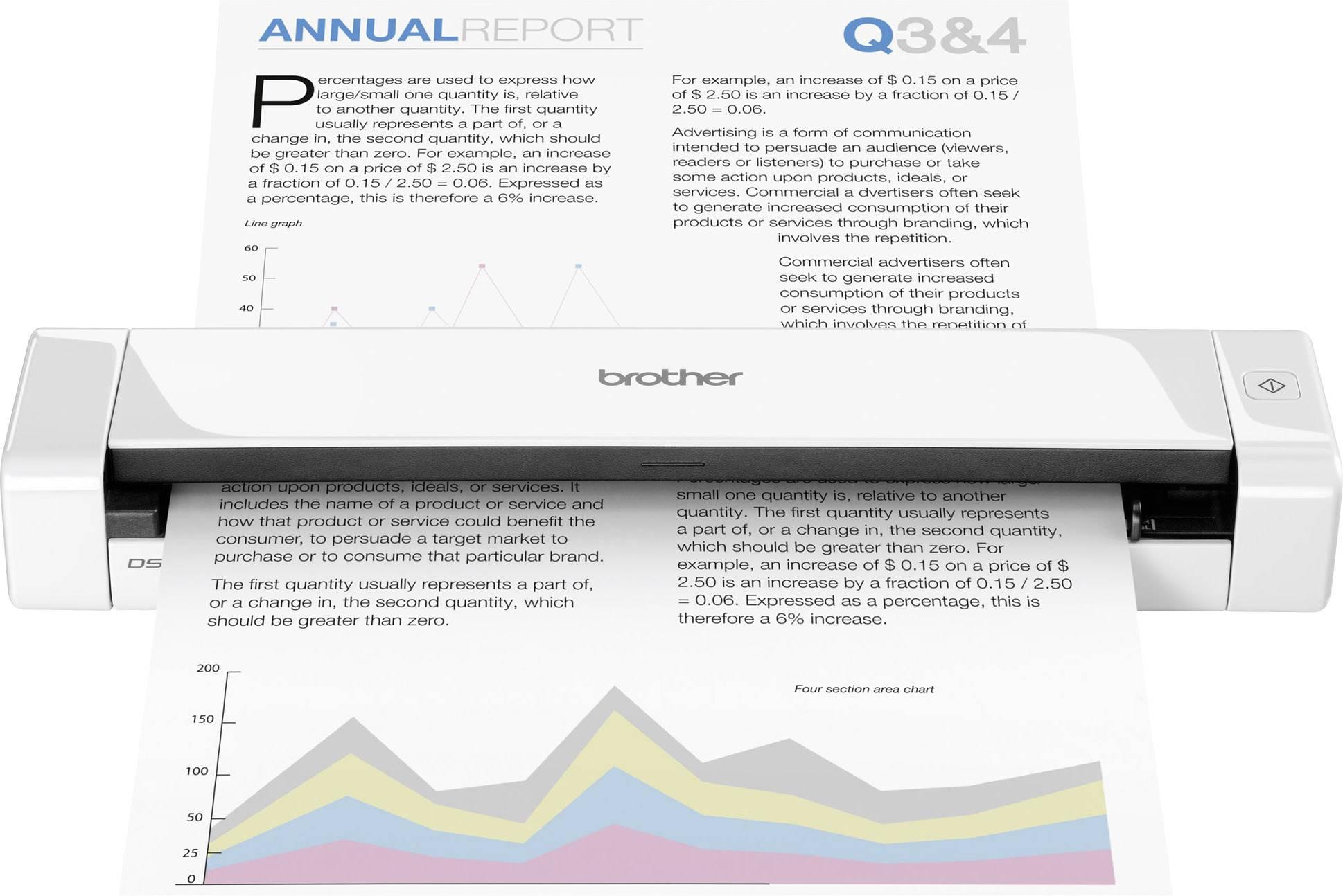 Brother Ds 720d Mobiler Duplex Dokumentenscanner A4 600 X 600 Dpi 7 Seiten Min 10 Bilder Min Usb