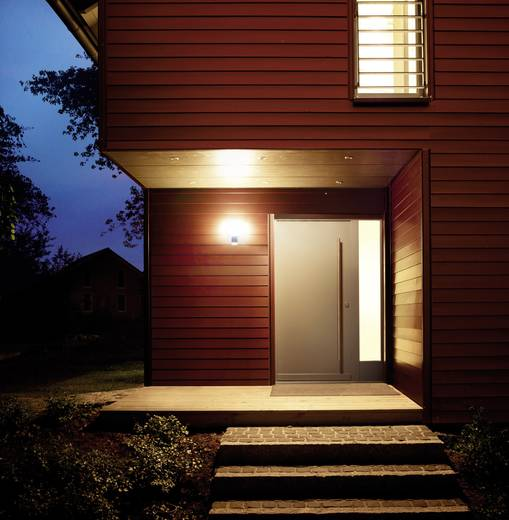 led au enwandleuchte mit bewegungsmelder 8 5 w warm wei steinel l 265 led 007898 silber. Black Bedroom Furniture Sets. Home Design Ideas