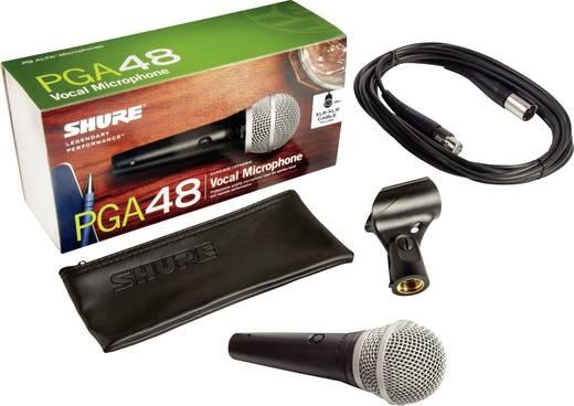 Sprach-Mikrofon Shure PGA48 XLR Übertragungsart:Kabelgebunden inkl. Kabel, inkl. Klammer, Schalter, Metallgehäuse