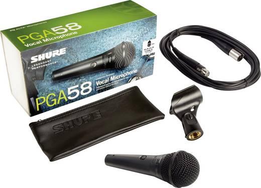 Hand Mikrofon-Set Shure PGA58BTS Übertragungsart:Kabelgebunden inkl. Kabel, inkl. Stativ, inkl. Tasche