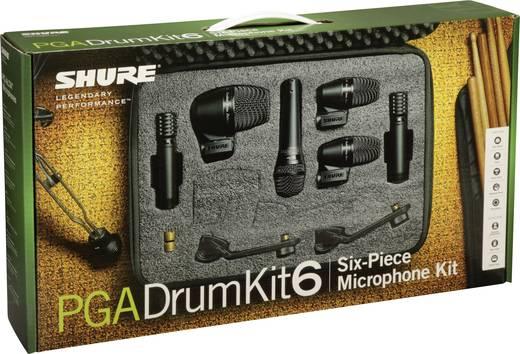 Instrumenten-Mikrofon Shure PGADRUMKIT6 Kabelgebunden inkl. Kabel, inkl. Klammer 6er Set