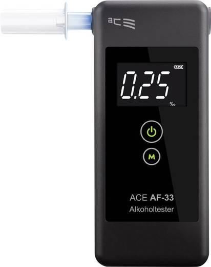 ACE AF-33 Alkoholtester Dunkel-Grau 0.00 bis 5.00 ‰ inkl. Display
