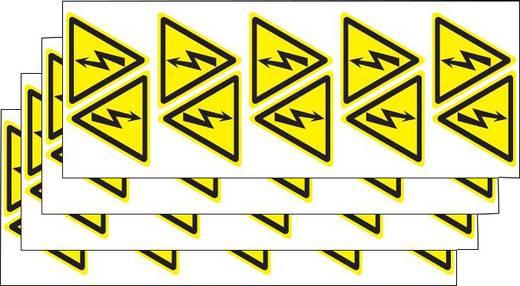 Warnschild Achtung Hochspannung! Folie selbstklebend 2 St.