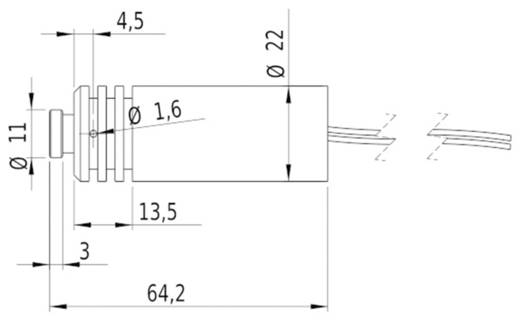Lasermodul Punkt Infrarot 120 mW Picotronic DH808-120-3(22x65)