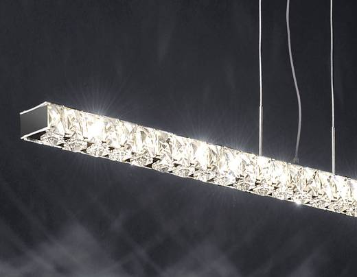 LED-Pendelleuchte 18 W Warm-Weiß Paul Neuhaus Jola 2581-17 Chrom