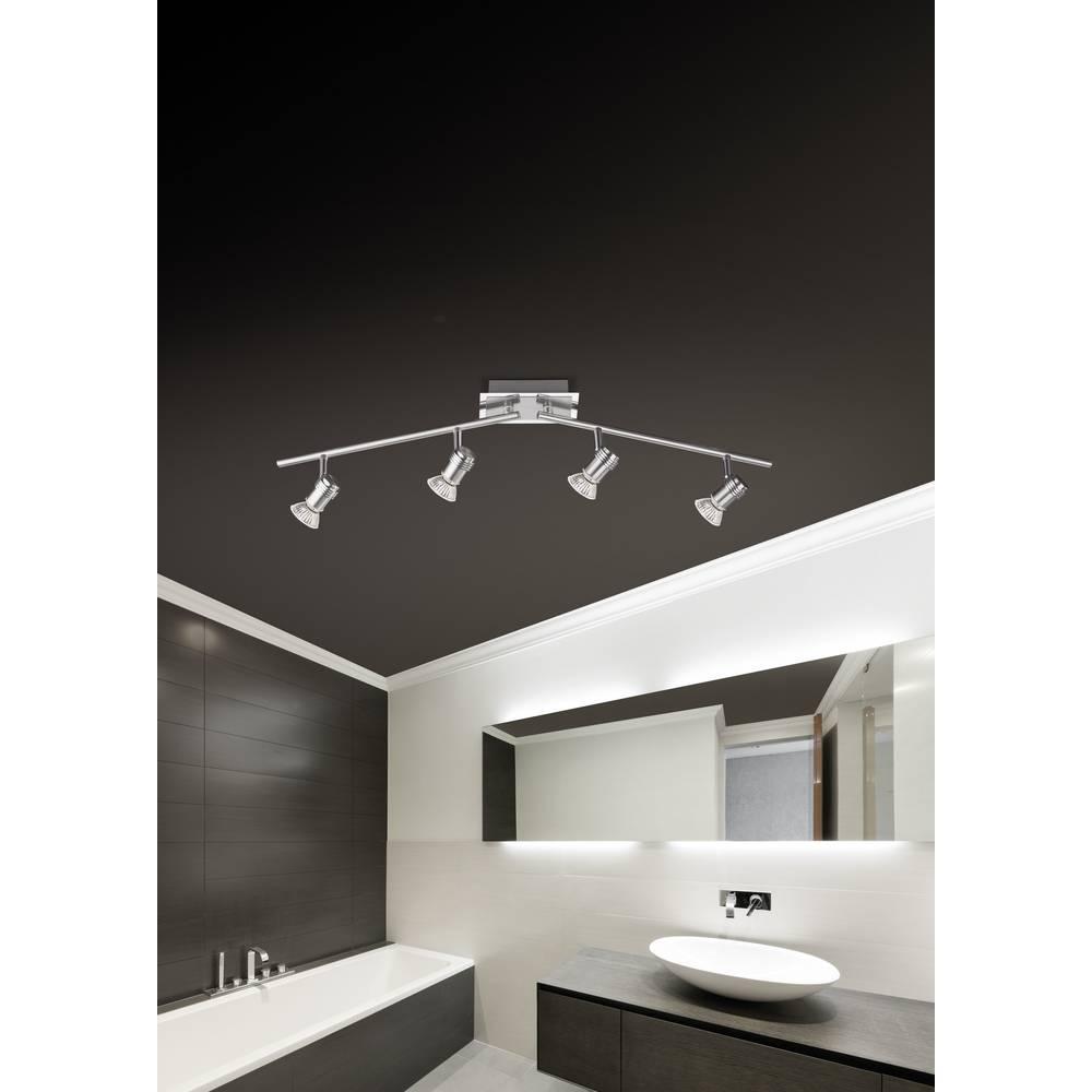 Lampada a soffitto per bagno led gu10 12 w paul neuhaus centra led 6829 55 acciaio in vendita - Lampada bagno soffitto ...