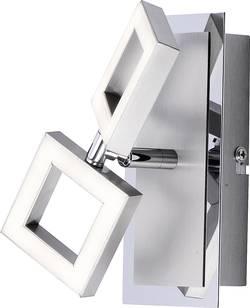 LED nástěnné světlo Paul Neuhaus Twins 9005-55, 5 W, teplá bílá, ocelová
