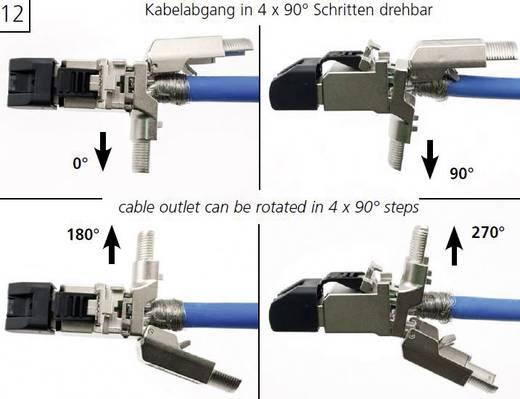 RJ45-Stecker gewinkelt, feldkonfektionierbar Stecker, gerade MFP8-4x90 T568A Cat.6A Telegärtner J00026A4003 1 St.